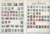Caribbean Stamp Collection on 14 Harris Pages, Dominican, Haiti +, JFZ