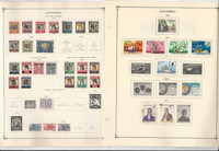 Columbia Stamp Collection on 30 Scott International Pages to 1972, JFZ