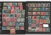 Croatia Stamp Collection on 2 Stock Pages. World War II Era, JFZ