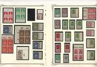 Germany Stamp Collection on 20 Scott Pages, Pairs, Tabs, Blocks, DKZ
