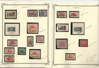 Germany - Saar Stamp Collection on 12 Scott Pages, Cancel Study, DKZ