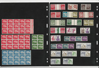 Germany Stamp Collection on 15 Pages, Pairs, Blocks, World War II, DKZ