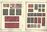 Germany Stamp Collection on 10 Scott Pages, Pairs, Railroad Cancels, DKZ