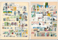 Germany Unsorted Stamp Collection on 8 Stock Pages, DKZ