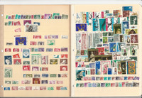 Germany DDR Unsorted Stamp Collection on 10 Stock Pages, DKZ