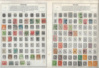 Denmark, Finland, Greece Stamp Collection on 20 Harris Pages, To 1970, JFZ