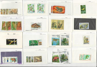 Frog Topical Stamp Collection on 45 Cards, Worldwide, JFZ