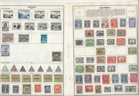 Guatemala & Honduras Stamp Collection on 18 Harris Pages, JFZ