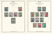Austria Stamp Collection 1916-1945 Neatly Mounted on 30 Pages, JFZ