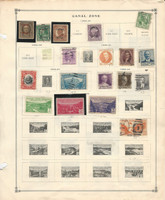 Canal Zone Stamp Collection on 2 Scott International Pages, JFZ