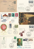 Germany Stamp Collection, Cards & Covers, 49 Different, JFZ