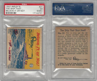 R21 Wolverine Gum, Believe It Or Not, 1937, #21 The Ship That Shot, PSA 5 MC EX