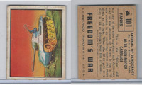 1950 Topps, Freedoms War, #101 M-18 Gun Motor Carriage (Orange)