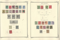 Great Britain Stamp Collection 1840-1969 on 50 Scott Specialty Pages, JFZ