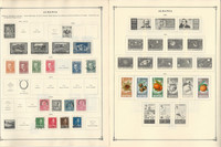 Albania 1913-1986 Stamp Collection on 35 Scott International Pg, JFZ