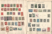 Argentina Stamp Collection on 10 Scott International Pages, JFZ