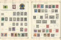 Brazil to 1986 Stamp Collection on 35 Scott International Pages, JFZ