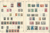 Bulgaria to 1986 Stamp Collection on 50 Scott International Pages, JFZ