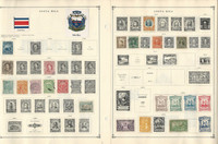 Costa Rica, Crete + to 1986 Stamp Collection on 40 Scott International, JFZ