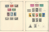 Malaya & Malaysia to 1986 Stamp Collection on 50 Scott International Pg, JFZ
