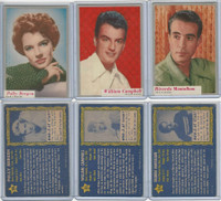 1953 Topps, Who-Z-At Star, Movie,Lot of 3. #28, 31, 34 Bergen, Campbell