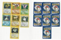 1999 Pokemon, Fossil/Jungle, Lot of 7, 6 Holographic, 1 Rare