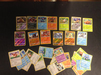 2017 Pokemon, Lot of 30 Cards,  10 Holographic, 3 Rare
