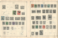 Peru Stamp Collection to 1986 on 30 Scott International Pages, JFZ