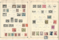 Poland Stamp Collection to 1986 on 70 Scott International Pages, JFZ