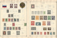 Russia Stamp Collection to 1986 on 100 Scott International Pages, JFZ