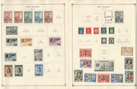 San Marino Stamp Collection to 1986 on 30 Scott International Pages, JFZ