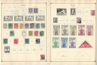 Spain Stamp Collection to 1986 on 50 Scott International Pages, JFZ