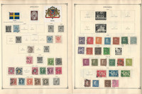 Sweden Stamp Collection to 1986 on 30 Scott International Pages, JFZ