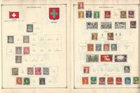 Switzerland Stamp Collection to 1986 on 40 Scott International Pages, JFZ