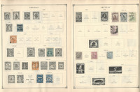 Uruguay Stamp Collection to 1986 on 30 Scott International Pages, JFZ