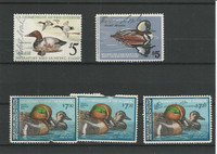 United States, Postage Stamp, #RW42//RW47 Duck Stamps, 1975-80, JFZ