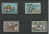 United States, Postage Stamp, #RW46-RW49 Duck Stamps, 1979-82, JFZ