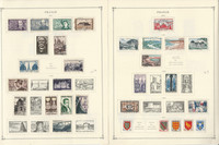 France & Colonies Stamp Collection 1940-54 on 12 Scott International Pages, JFZ