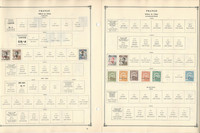 France Offices Stamps Collection on 18 Scott International Pages, JFZ