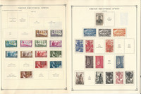 French Colonies Stamp to 1986 Collection on 40 Scott International Pgs, JFZ