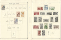 French Colonies Stamp to 1986 Collection on 35 Scott International Pgs, JFZ