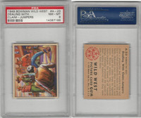 1949 Bowman, Wild West, #A-23 Dealing With Claim-Jumpers, PSA 8 NMMT