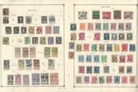Belgium Stamp Collection on 24 Scott International Pages to 1940, JFZ