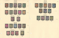 Ceylon Stamp Collection on 10 Pages, Neatly Identified, JFZ