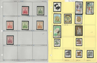 China Stamp Collection on 8 Pages, Neatly Identified, JFZ