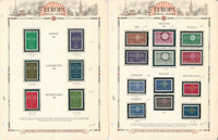 Europa Stamp Collection on 6 White Ace Pages, 1959-1961, JFZ