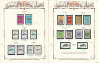 Europa Stamp Collection on 12 White Ace Pages, 1972-1974, JFZ