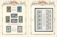 Europa Stamp Collection on 12 White Ace Pages, 1974-1975, JFZ