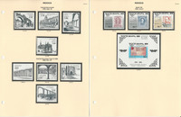 Mexico Stamp Collection on 14 Pages, Neatly Identified, JFZ