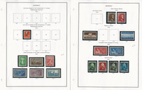 Norway Stamp Collection on 24 Steiner Pages, 1941-1971, JFZ